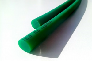 PU Round belt | Round Blet | PU Cord | Thermoplastic Blet - Green, 89A, Rough Surface