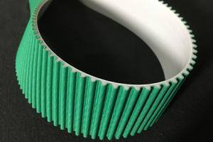 PU Open type timing belt 3M/5M/8M/14M with green facbric